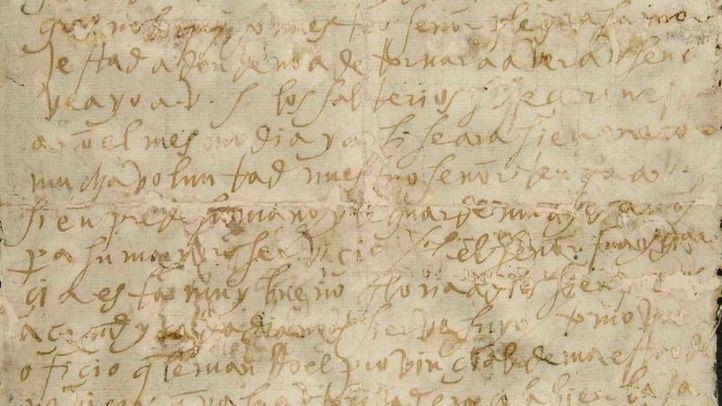 Carta de Santa Teresa de Jesús que guarda la Biblioteca Nacional, similar a las recuperadas por la Guardia Civil.