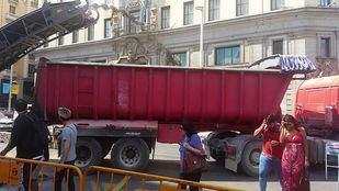 Las máquinas de Gran Vía ponen en riesgo a los peatones