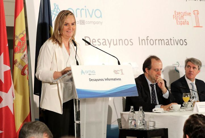 La consejera de Transportes, Vivienda e Infraestructuras de la Comunidad de Madrid, Rosalía Gonzalo, en el desayuno informativo de Executive Forum España