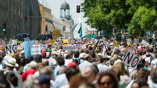 Manifestación por la sanidad pública en una foto de archivo