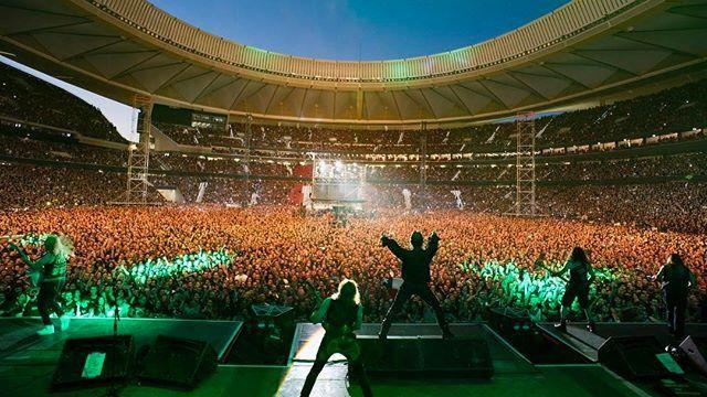 Los Iron Maiden aterrizaron en el Wanda Metropolitano con motivo de su gira The Legacy of the Beast.