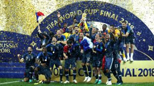 Francia vence a Croacia en la final del Mundial de Rusia 2018.