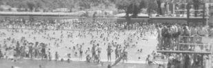 El 'charco del obrero', chapuzón en la mayor piscina de Europa