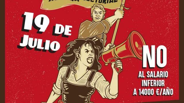 El textil marcha por el centro de Madrid este jueves