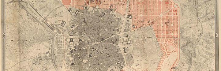 Plano del ensanche de Madrid en 1859.