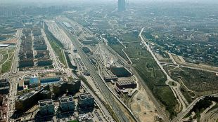 Foto de la zona Castellana Norte desde el aire.