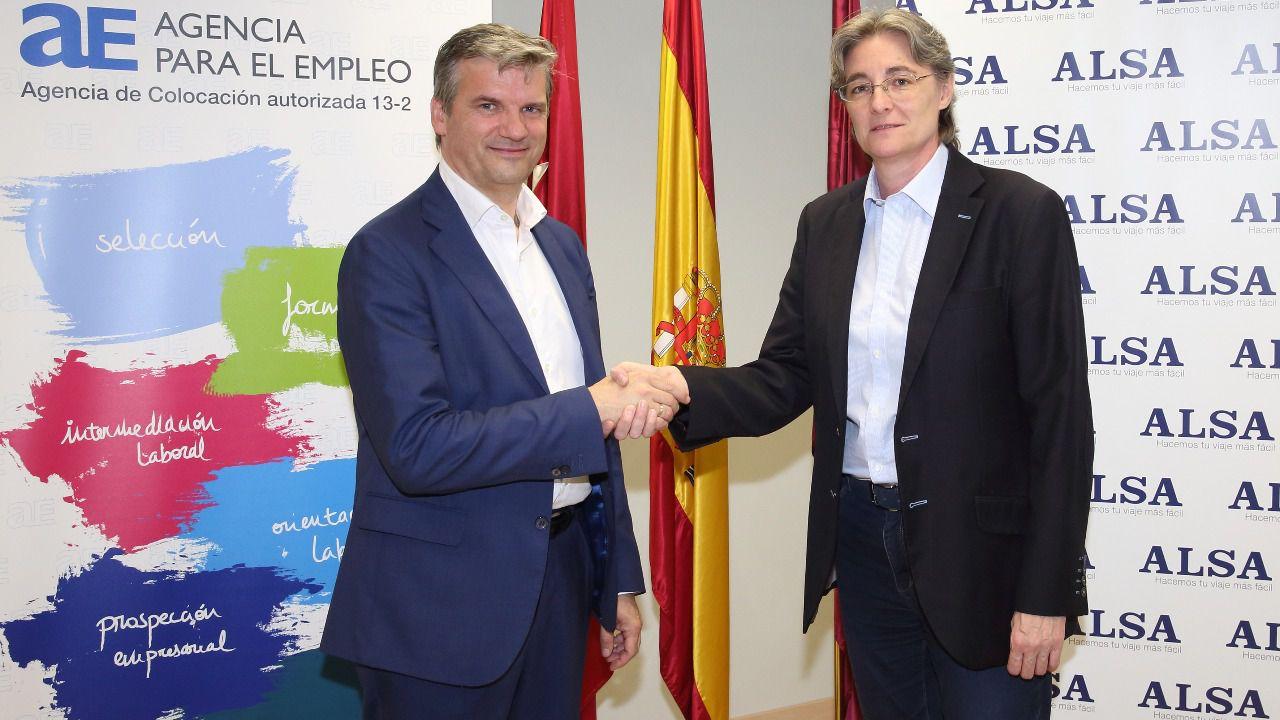 La agencia de empleo de madrid y alsa firman un convenio for Agencia de empleo madrid