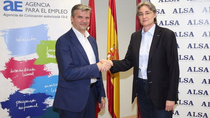 La Agencia de Empleo de Madrid y ALSA firman un convenio para la formación de personas desempleadas