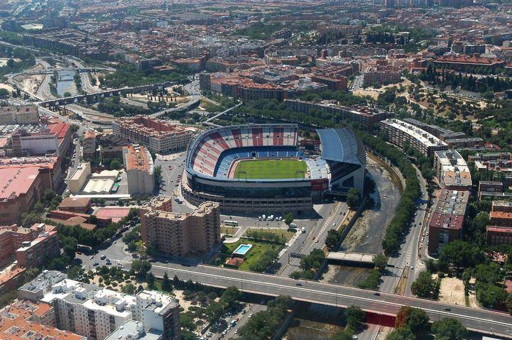 Vista aérea del Vicente Calderón