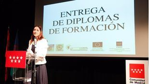 Lola Moreno, consejera de Políticas Sociales y Familia de la Comunidad de Madrid.