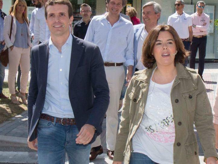 Santamaría y Casado llegan con apoyos muy igualados
