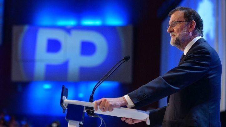 Mariano Rajoy, durante su intervención en el Congreso del partido del que saldrá su sucesor