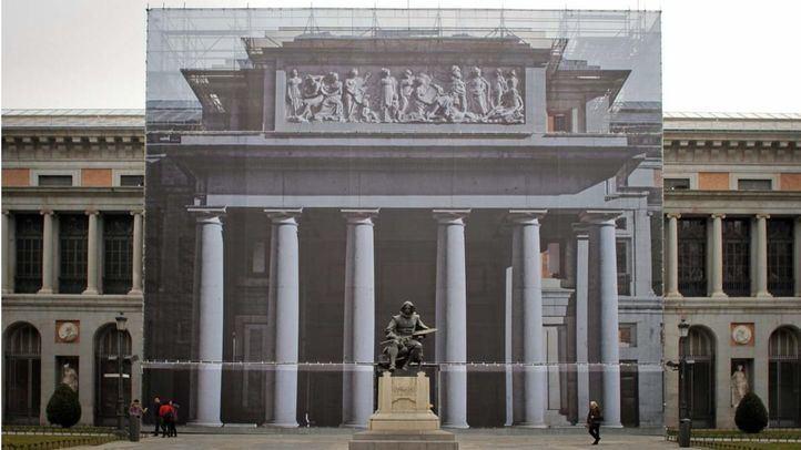 Medio millón para evitar el desprendimiento de las fachadas del Museo del Prado