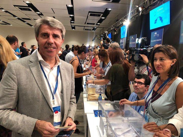 Ángel Garrido, en el Congreso del PP, este sábado.