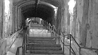 Segundo tramo del túnel peatonal entre Sol y Gran Vía.