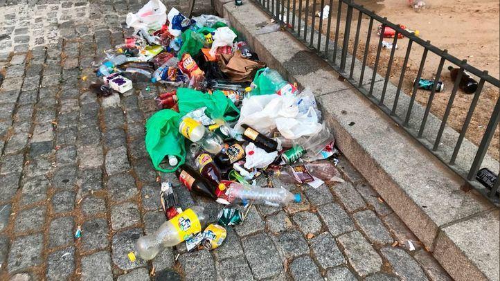 Suciedad acumulada en las calles durante la celebración del Orgullo 2018