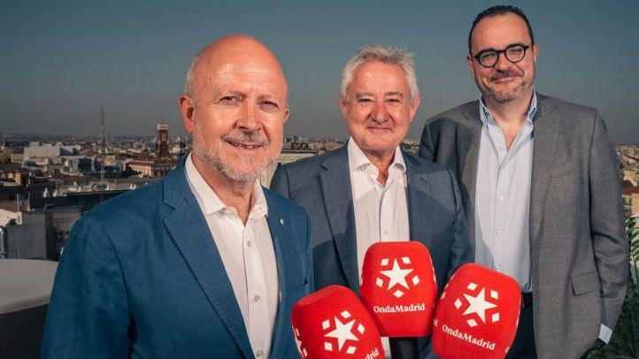 Los periodistas Juan Pablo Colmenarejo, Felipe Serrano y Félix Madero, nuevos fichajes de Onda Madrid.