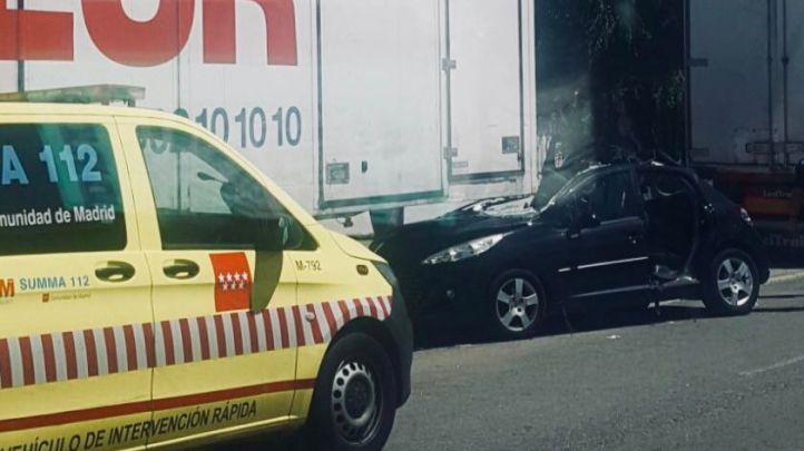 Rescatada una mujer encerrada en su coche en Getafe