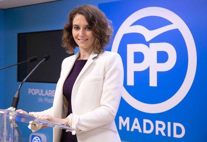 Isabel Díaz Ayuso es la portavoz del partido en Madrid.