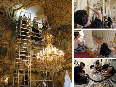 Campaña de restauración en el Palacio de Fernán Núñez y en el Museo del Ferrocarril de Madrid