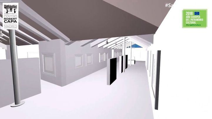 Recreación del museo sobre los bombardeos en Madrid durante la Guerra Civil que la plataforma #salvemosPeironcely10 propone para el futuro de la casa de Entrevías que fotografió Robert Capa