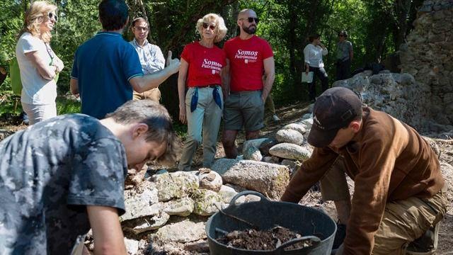 Trabajos arqueológicos en el Albergue Juvenil de Los Batanes.