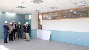 Rafael van Grieken e Ignacio García de Vinuesa visitan las obras.