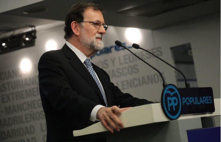 Mariano Rajoy, el día en que anunció que dejaba de liderar el PP