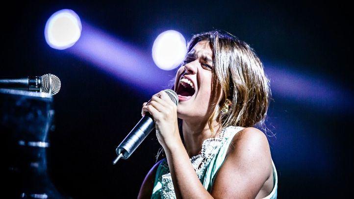 Amaia, en el concierto que ha ofrecido en el Teatro Real.