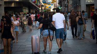 Turistas en el centro de Madrid.