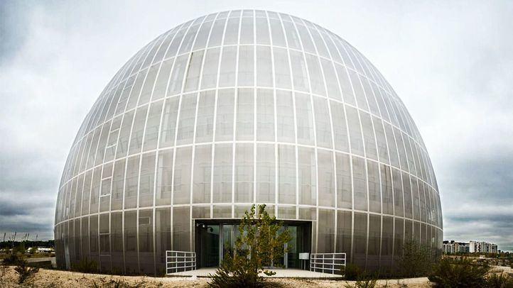 Panorámica del único edificio construido en el Campus de la Justicia.