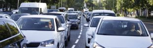 La acampada en la Castellana y las obras de Gran Vía complican el tráfico