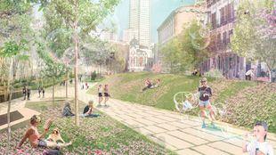 La plaza de España 'renacerá' a mediados de 2020