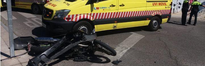Herido grave un motorista de 22 años en Collado Villalba