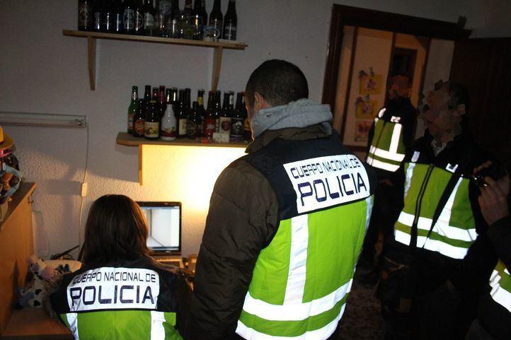 Redada de la Policía Nacional contra la  pornografía infantil (Foto de archivo).