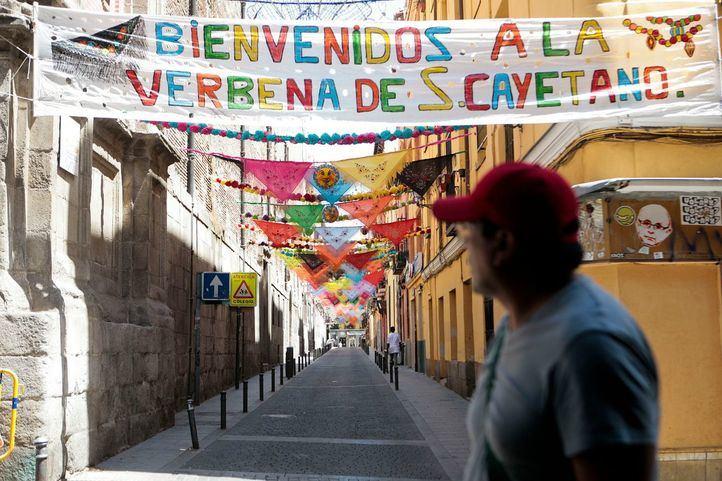 Preparativos de las fiestas de San Cayetano.