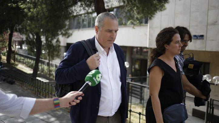 Pablo Acosta, a su llegada a los juzgados de Plaza de Castilla.