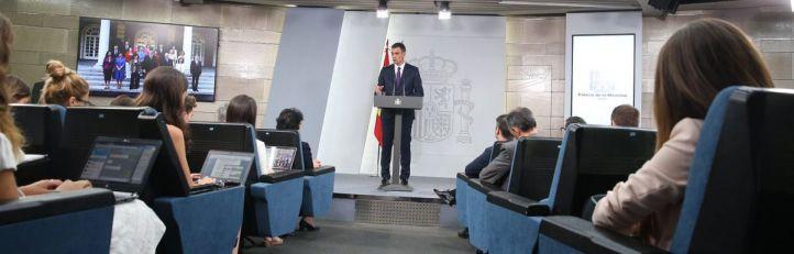 Rueda de prensa de Pedro Sánchez, presidente del Gobierno.