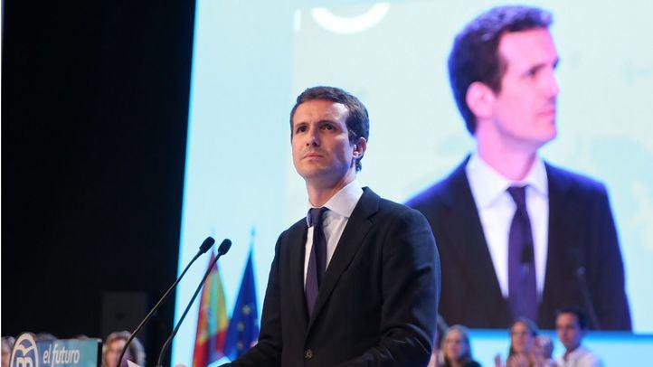 Pablo Casado, en el congreso donde se proclamó presidente del PP.