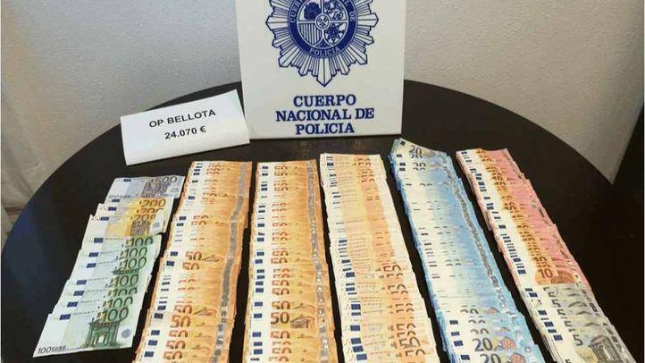 Dinero recuperado por la Policía en la segunda fase de la Operación Bellota