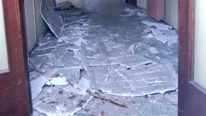 Se derrumba un falso techo en una comisaría de Moratalaz