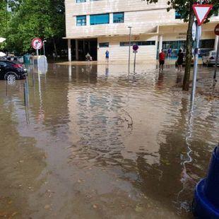 La tormenta veraniega causa estragos en Pinto.