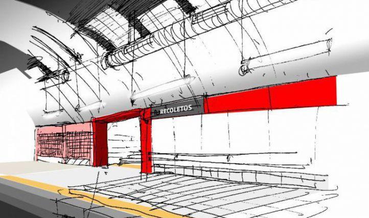 La estación de Recoletos será totalmente accesible