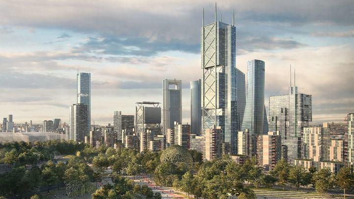 Recreación de cómo será la zona norte de la ciudad cuando termine de materializarse el proyecto Madrid Nuevo Norte.
