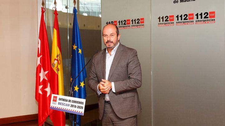 Pedro Rollán, este jueves en el acto de firma de las prórrogas de las Bescam