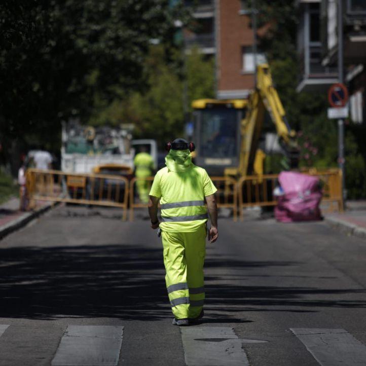 El arreglo del socavón de Carabanchel llevará días