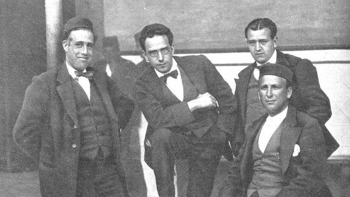 Besteiro, Anguiano, Saborit y Largo Caballero en 1918.