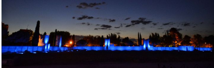 Alcalá ilumina sus murallas con el sistema del Empire State