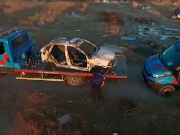 Hallados seis coches calcinados en un descampado cerca de la Cañada