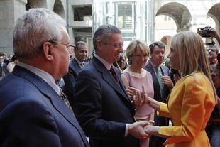 Leguina, Gallardón, Aguirre y González, en la toma de posesión de Cifuentes.